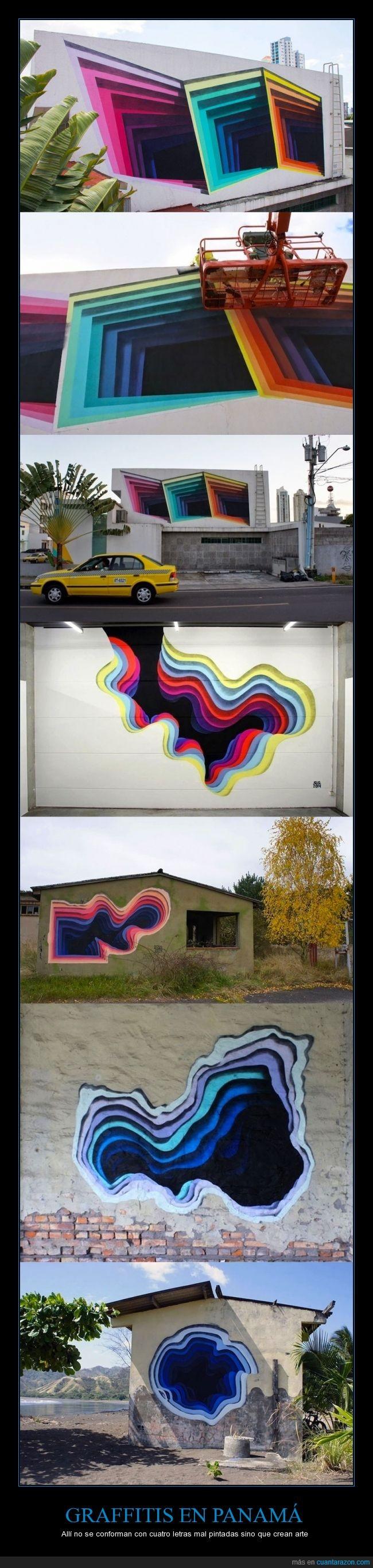 agujero,arte,callejero,color,escala,graffiti,panama,profundidad,urbano