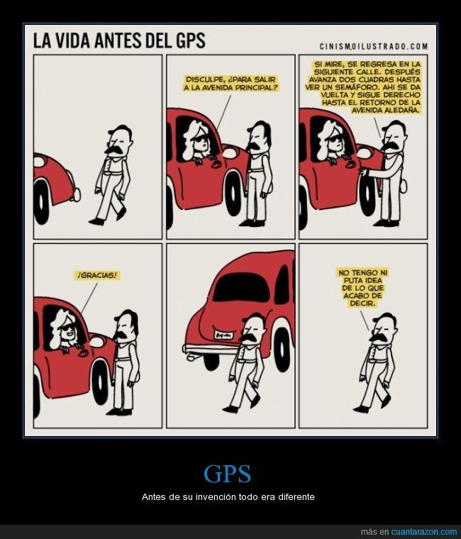 antes,auto,coche,dirección,gps,pedir,perder,perdido,preguntar