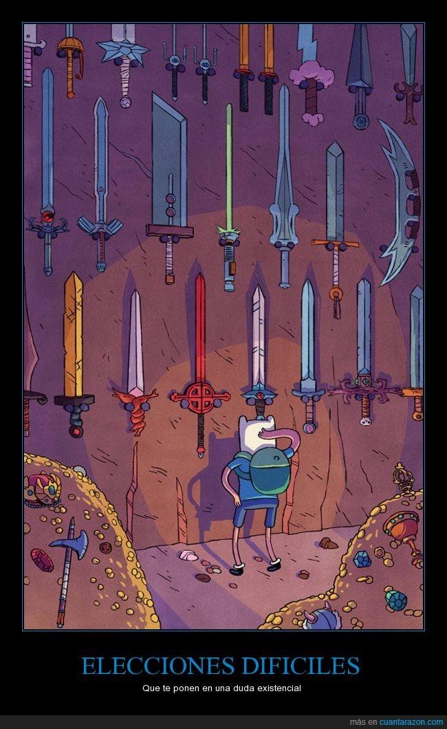 Adventure Time,Dura,espada maestra,espadas,famosas,Finn,Hora de Aventura,sable laser,tipos,yo salgo a matar con un vidrio y ya