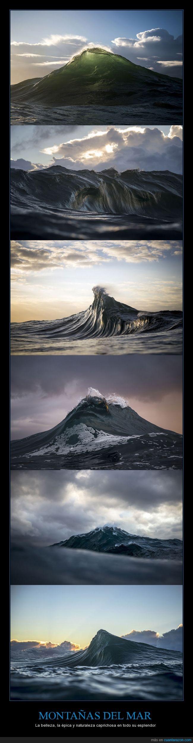 Fotografía,mar,montañas,naturaleza,olas,Ray Collins