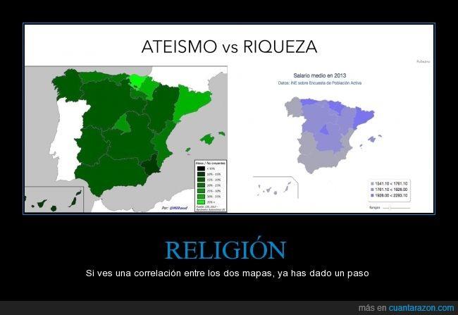 ateismo,dinero,educacion,marca españa,religion,riqueza,salario,sueldo