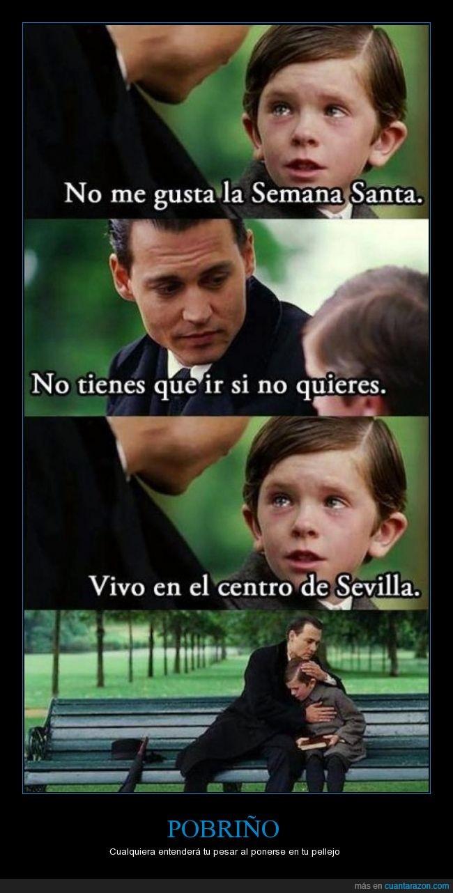 empatía,festejos,jaleo en el centro,Johnny Depp,medio,pobre niño,Procesion,semana santa,Sevilla
