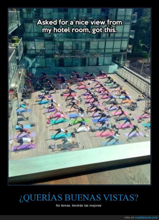 buenas,clase,entrenamiento,hotel,imagen,posicion,ventana,vistas,yoga