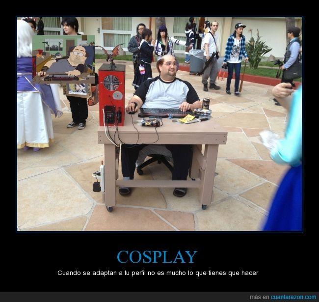 calvo,convención,cosplay,disfraz,disfrazado,freak,friki,geek,gordo,nerd,south park