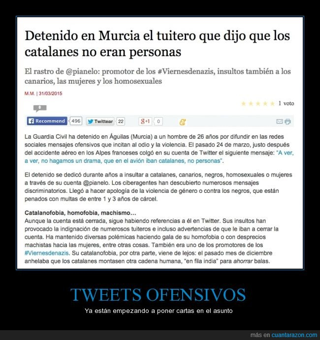 catalanes,catalanofobia,germanwings,ofensa,ofensivo,personas,tuit,tweet