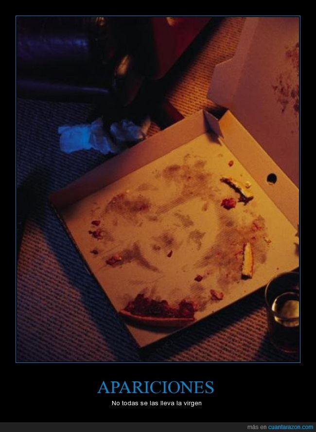aceite,aparición,caja,cara,grasa,Hitler,pizza,Semana Santa
