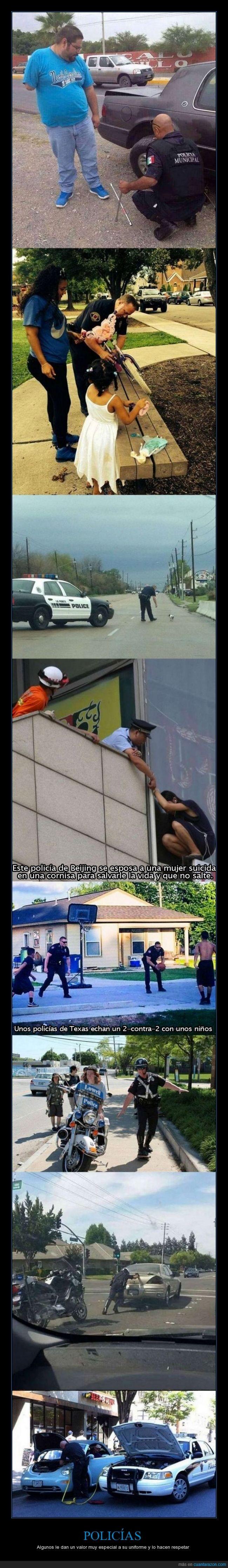 buenos policias,lastima que son pocos los policias buenos,respetar la institucion,valorar