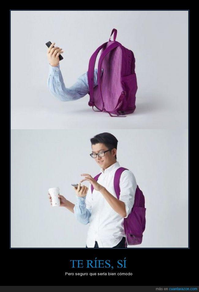 brazo,llevar,manga,mano,manoslibres,mochila,movil,smartphone,soporte,telefono,tercer