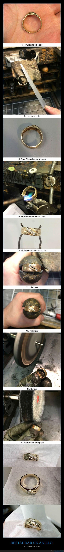 anillo,arreglar,arreglo,arte,diamante,limpio,oro,proximamente les voy a enseñar a diseñar una bomba,pulir,reparacion,reparar,restaurar,viejo