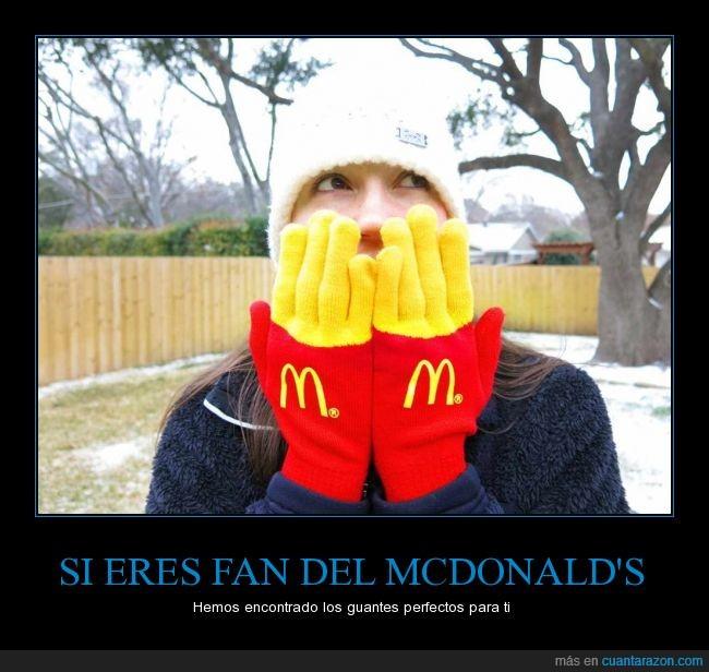 amarillo,fritas,guantes,mcdonald's,mcdonalds,patatas,rojo