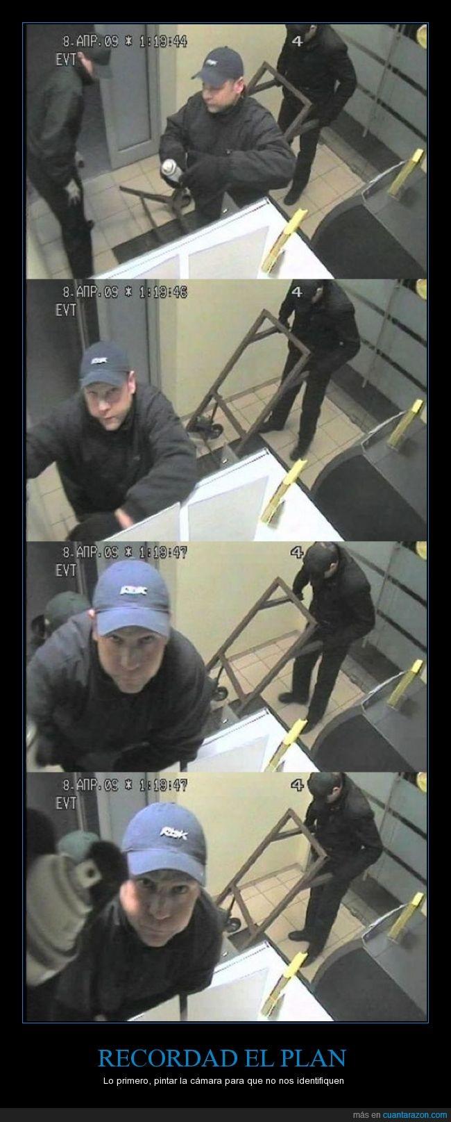 cámara,cara,fail,ladrón,pintar,reconocer,robo,seguridad,tontacos