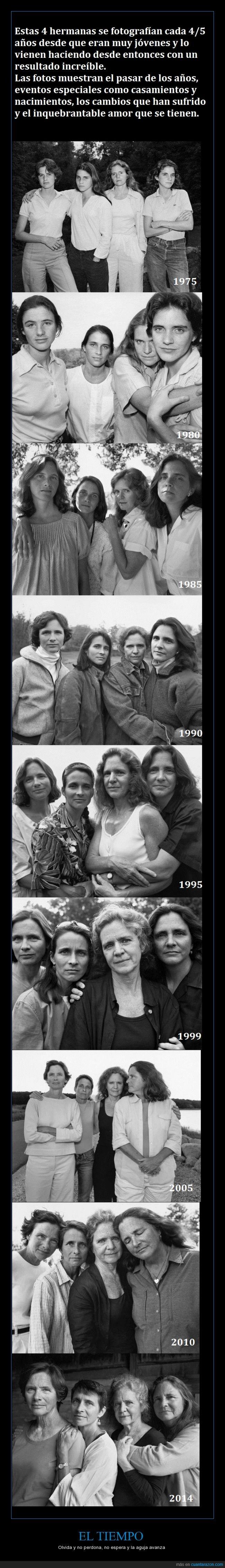 años,esperemos la foto del 2019,evolucion,familia,fotos,hermana,los años,mujeres,se nos va el tiempo,tiempo,vejez