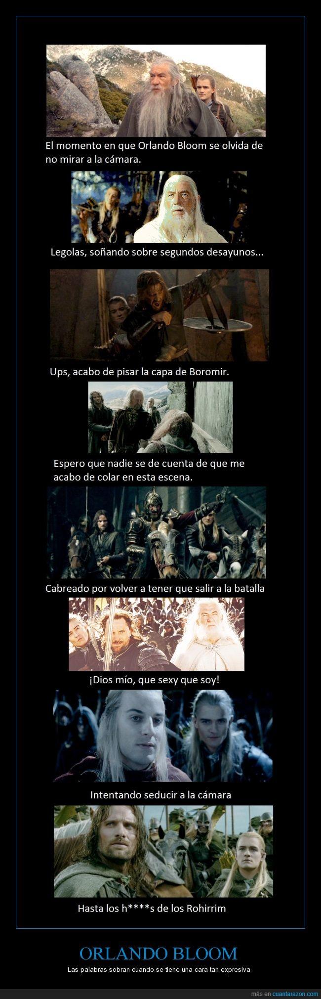 caretos,detrás,El señor de los anillos,Hobbit,Legolas,LOTR,Orlando Bloom,personaje