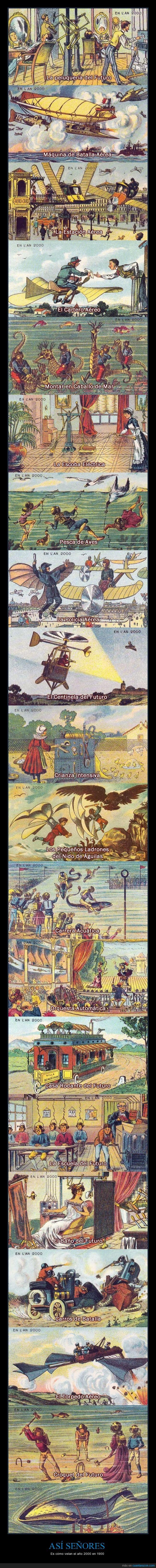 1900,2000,El cartero aéreo no esta mal,Francia,Futuro,ilustracion,imaginar