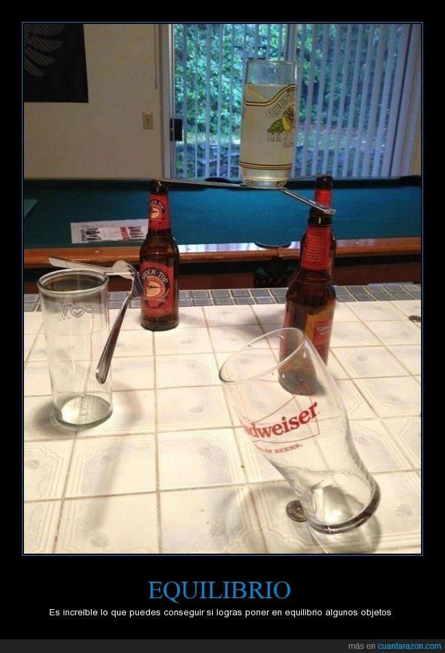 budweiser,cerveza,equilibrio,increible,moneda,vaso