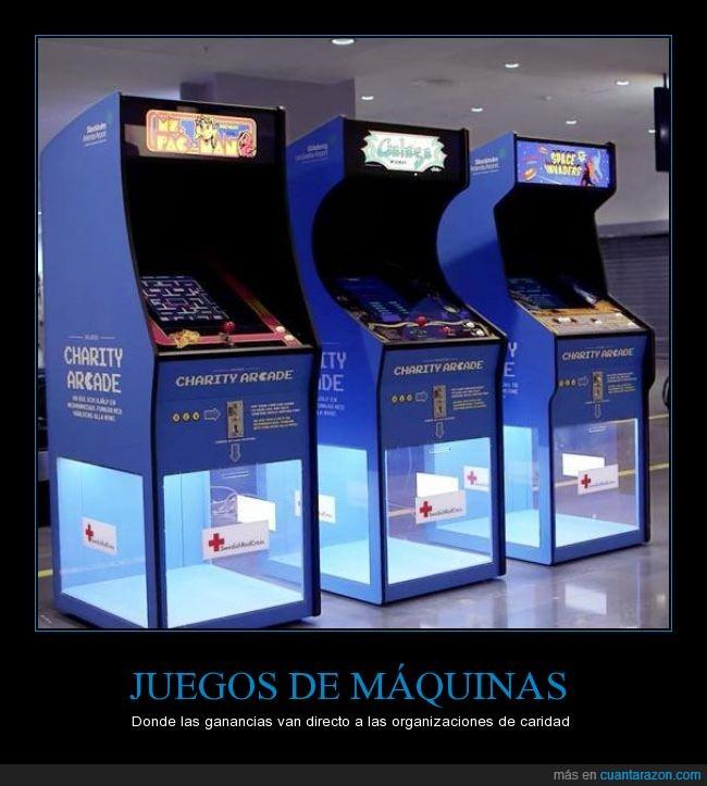 arcade,caridad,charity arcade,maquina,pac-man,pachinko,pacman