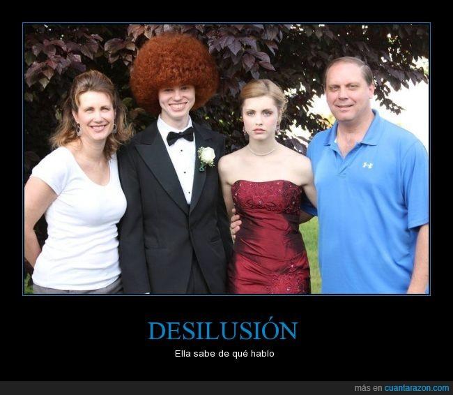 afro,afrontar,cabello,cara,decepción,desilusión,graduación,pelirrojo