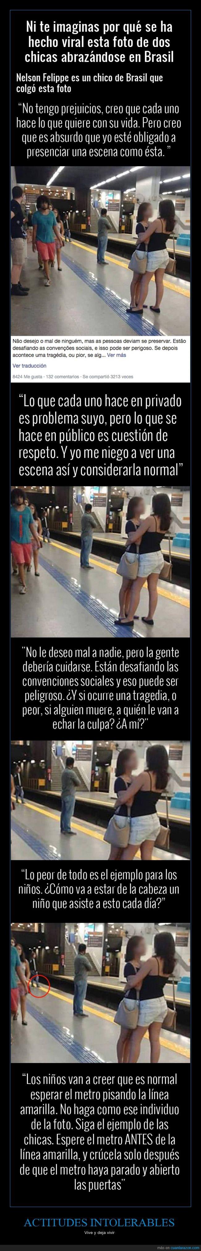 amarilla,andén,brasil,chica,estación,homo,lesbi,línea,metro,niño,pareja,seguridad,tren,vivir