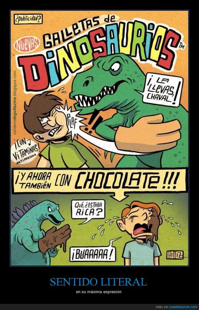 bofetón,chocolate,dinosaurios,galletas,guantazo,niños