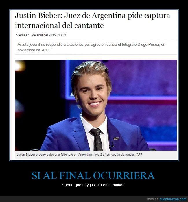 agresion,argentina,arresto,captura,internacional,JB,Juez,Justin Bieber,noticias,ordenar