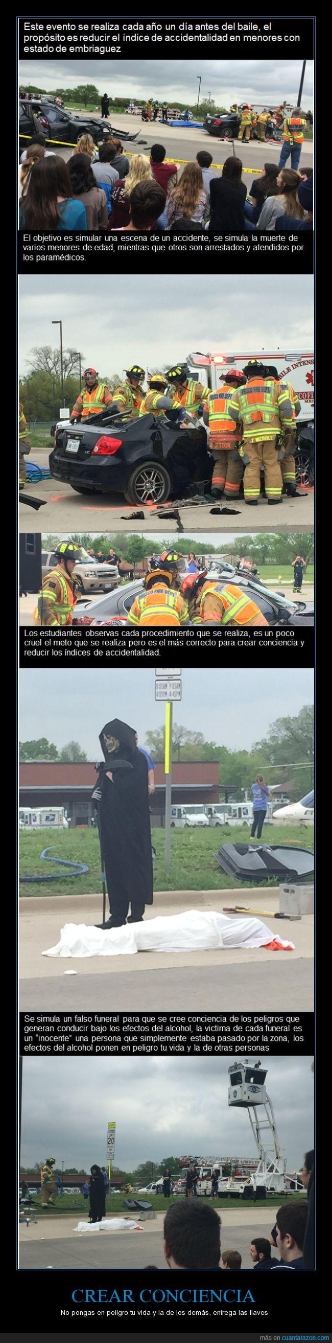 accidente,alumno,baile,ciudadano,concienciar,duro,gente,graduacion,muerte,peligro,reducir el riesgo,representacion,salvar vidas