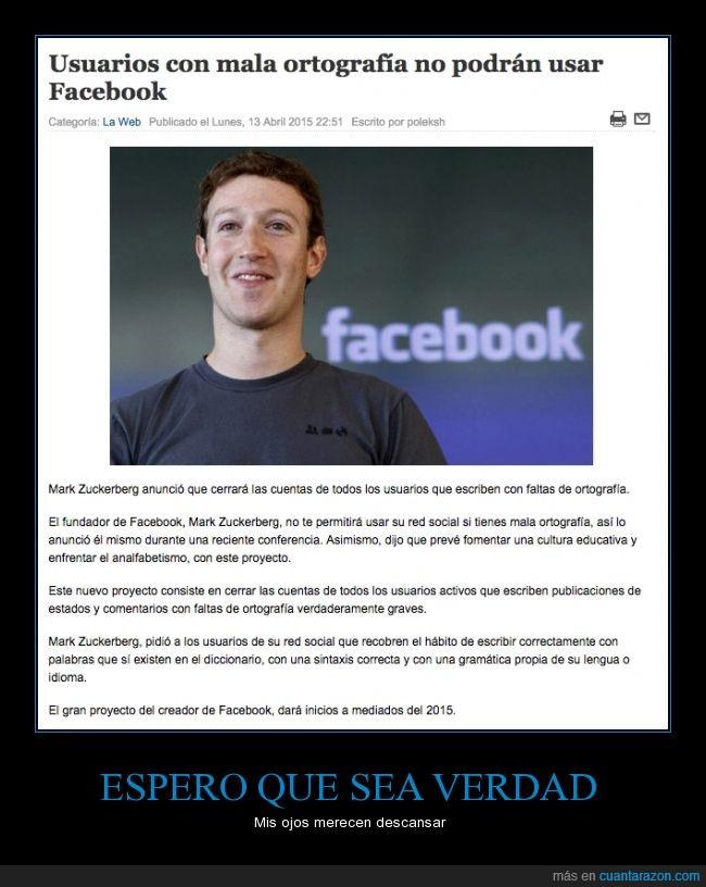 cerrar,facebook,mala,Mark Zuckerberg,ortografía