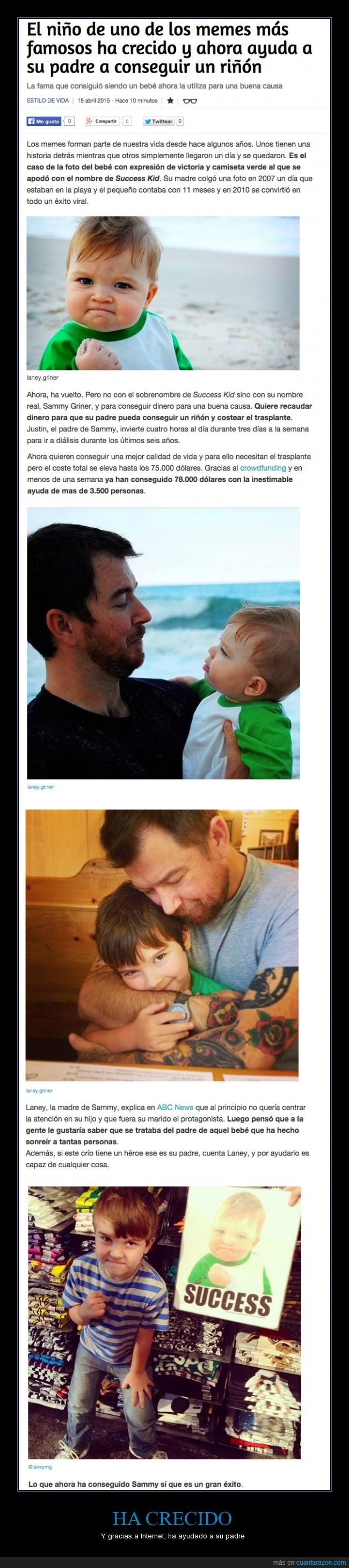 ayuda,crecer,crecido,niño,padre,riñon,Sammy,success kid