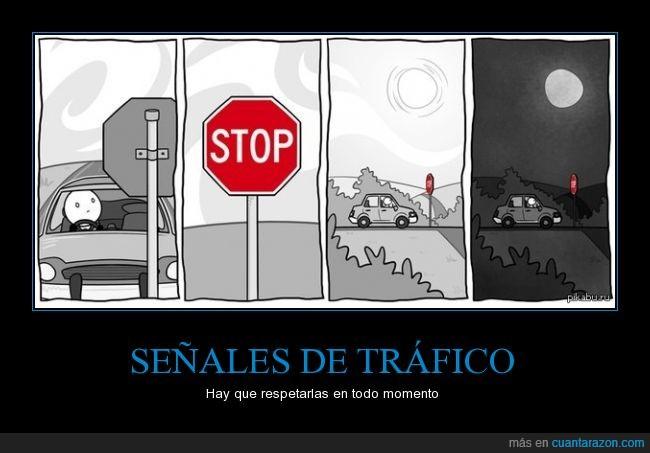 dia,noche,parar,respetar,señales,stop,trafico