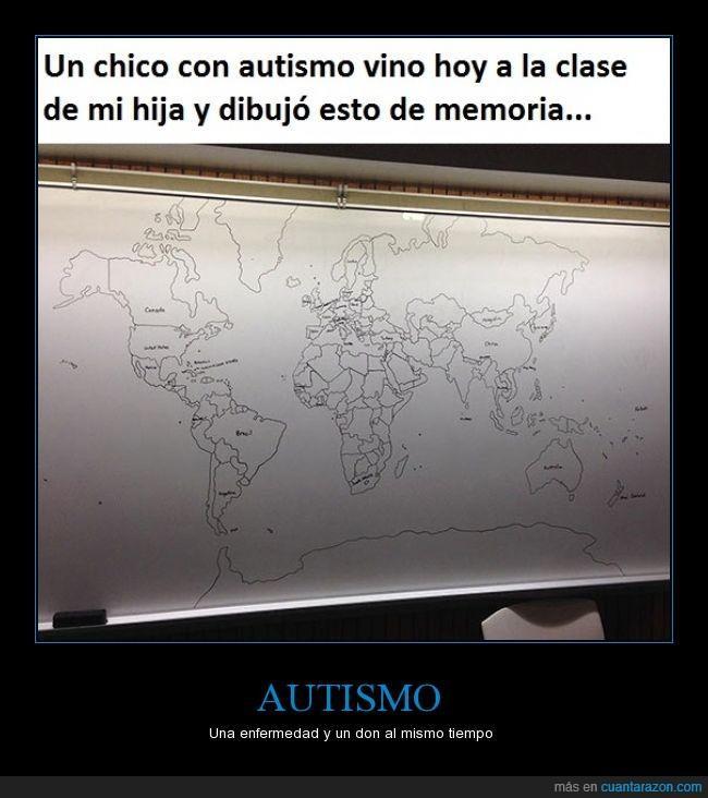 Autismo,dibujo,mapa,mapamundi,memoria,mundo,recordar