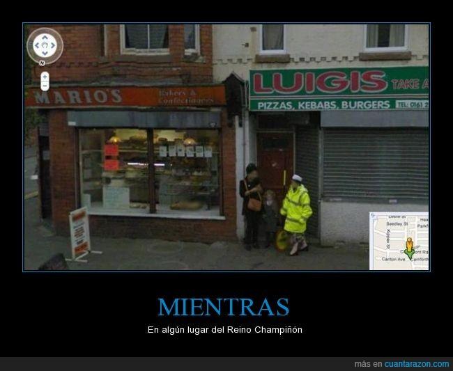 color,Luigi,maps,Mario,rojo,Street,tienda,verde,view