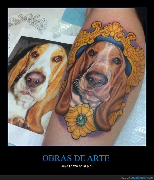 clavado,color,fotografía,fotorealista,luz,perro,tattoo,tatuaje