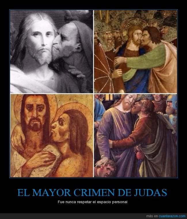 arte,beso,cansino,el beso de Judas,espacio,Jesús,Judas Iscariote,pesado,pintura