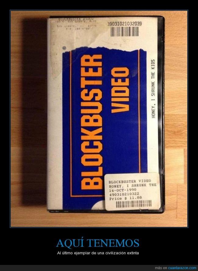 blockbuster,caratula,Cariño he encogido a los niños,extincion,peliculas,recipiente,vhs,videoclub