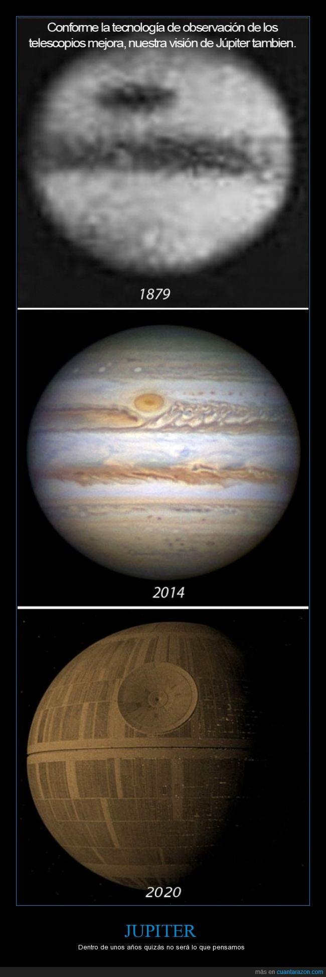 Espacio,Jupiter,La estrella de la muerte,Star Wars,Telescopio