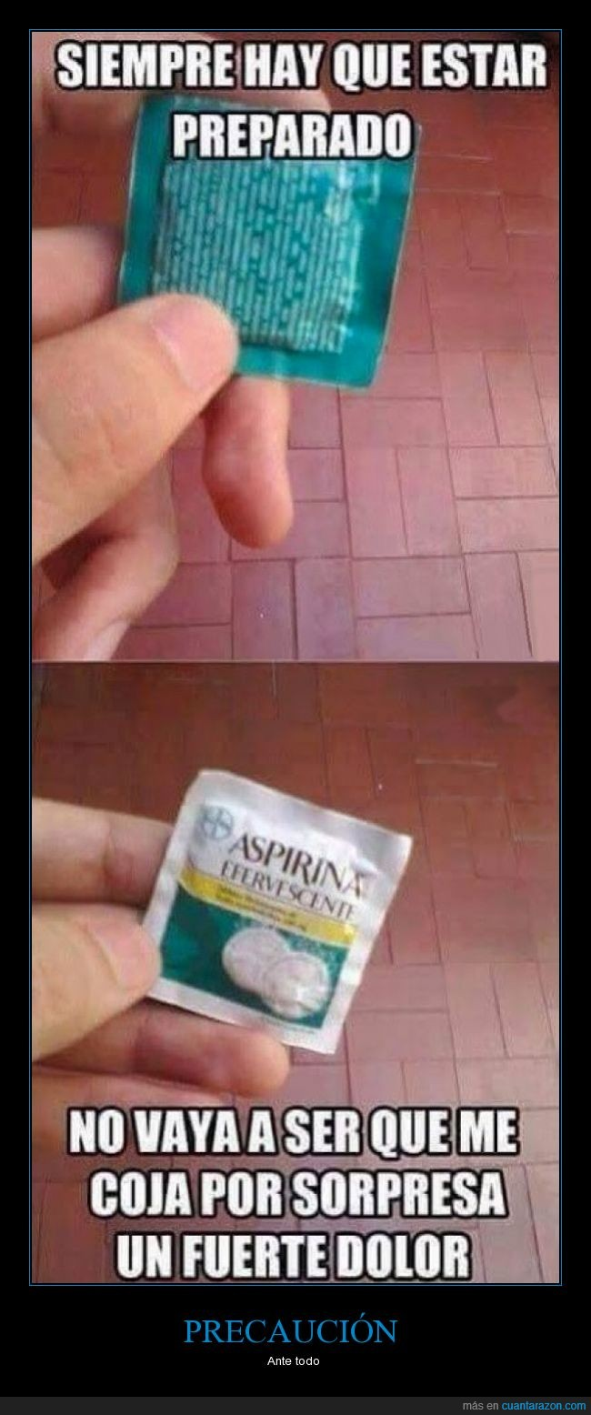 aspirina,dolor,medicamento,medicina,parece,precaucion,preservativos,sobre