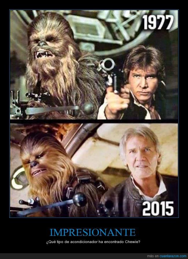acondicionador,brillante,champú,Chewbacca,Chewie,diferencia,edad,humor,película,pelo,saga,Star Wars