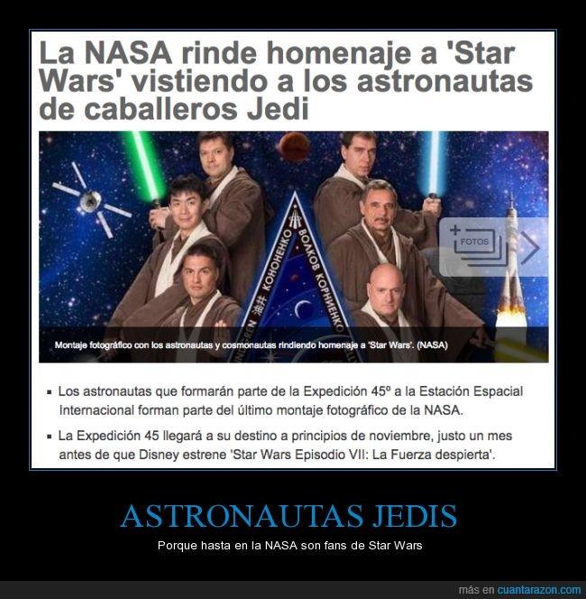 astronauta,espada,habito,jedi,La guerra de las galaxias,laser,luz,sable,star wars