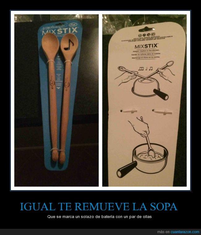 baquetas,bateria,cocina,cucharas,ingenio,palas,remover,utensilio