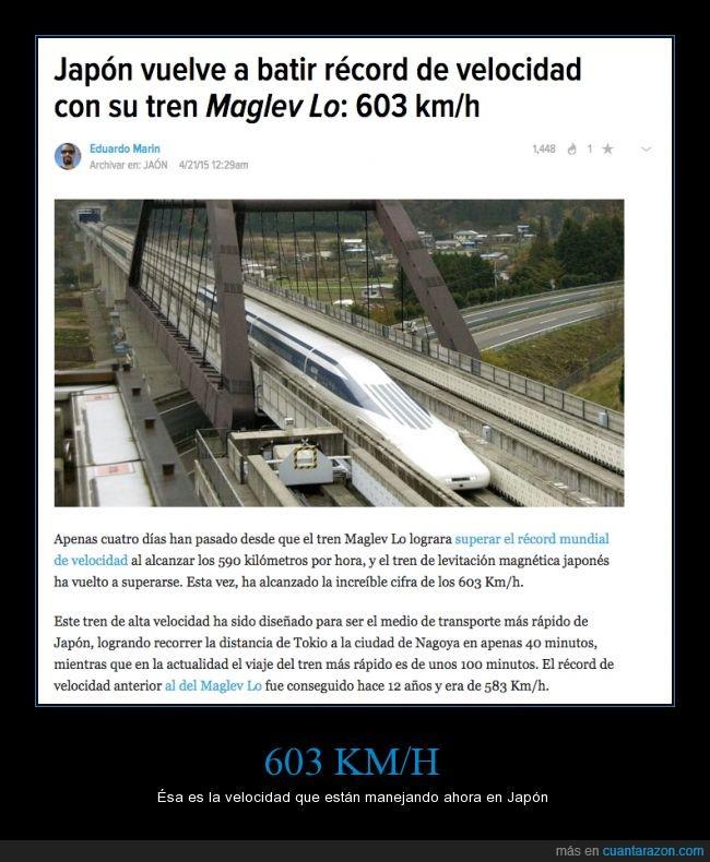 bala,levitacion,Maglev Lo,magnetica,mundial,record,tren