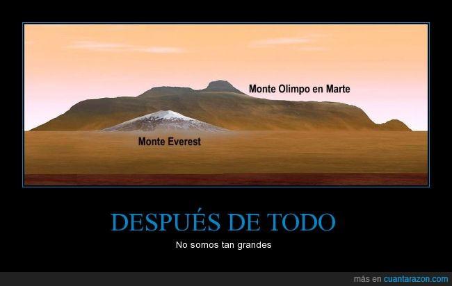 alta,Everest,marte,montaña,monte,olimpo,Tierra
