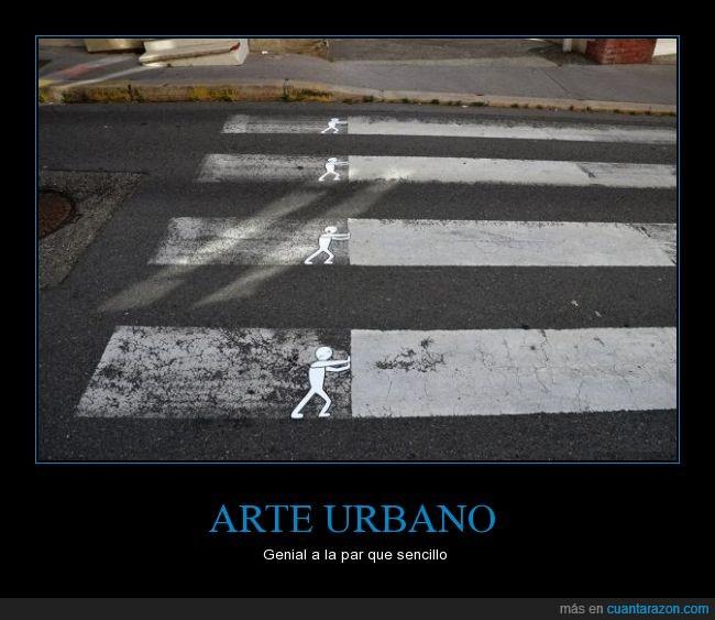 arte,barra,blanco,cargar,cebra,graffiti,monigote,muñeco,palo,paso,paso de cebra,urbano
