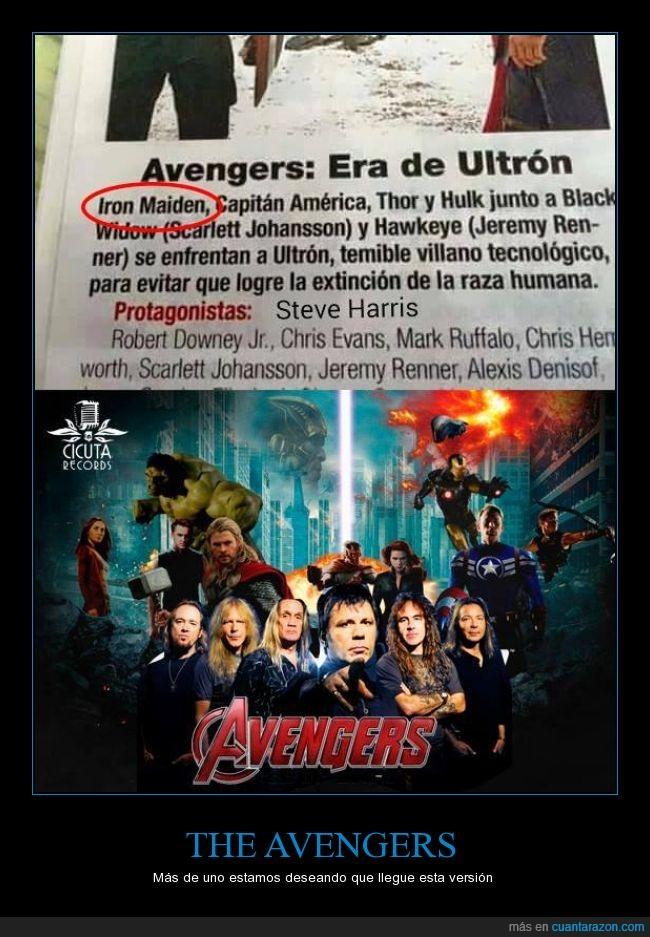america,avengers,capitan,hulk,iron maiden,iron man,marvel,thor,vengadores