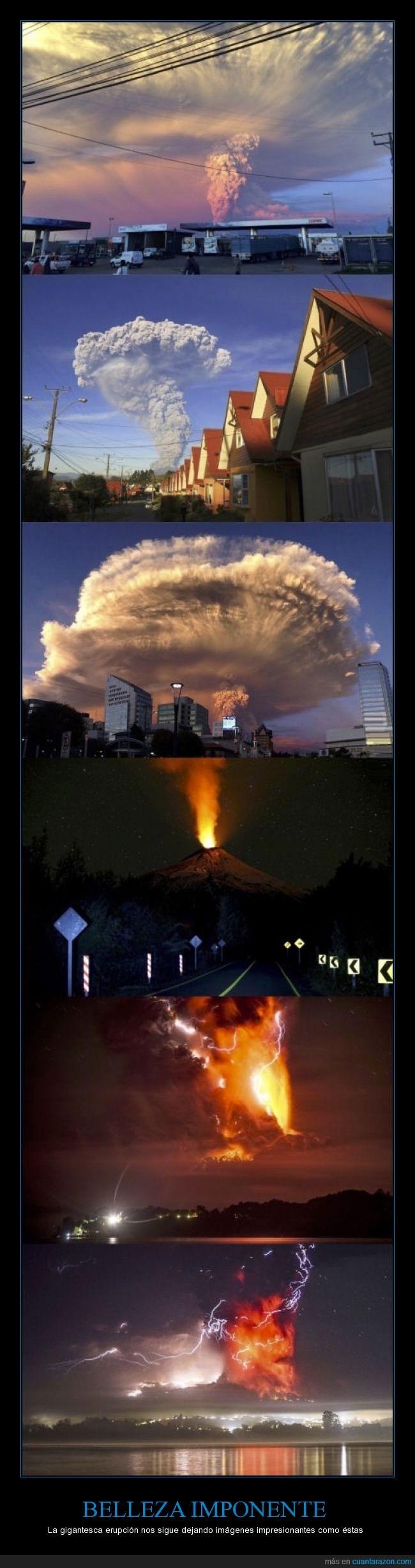 chile,cielo,erupción,humo,lava,nube,volcan