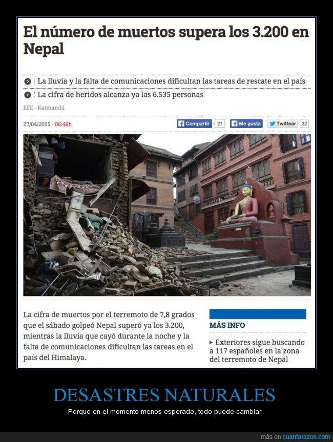 desastre,destrucción,muertos,nepal,terremoto