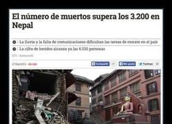 Enlace a Ya van más de 3200 muertos en el Nepal