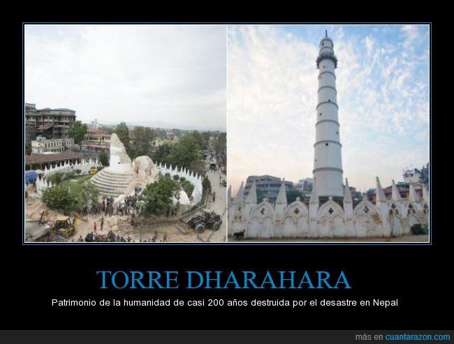 construida en 1832,historia,nepal,patrimonio,terremoto,Torre Dharahara