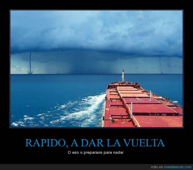 barco,directo,mar,mercancia,miedo,nadar,nunca llegara mi Yfone chino (iphone),rendirse,tormenta