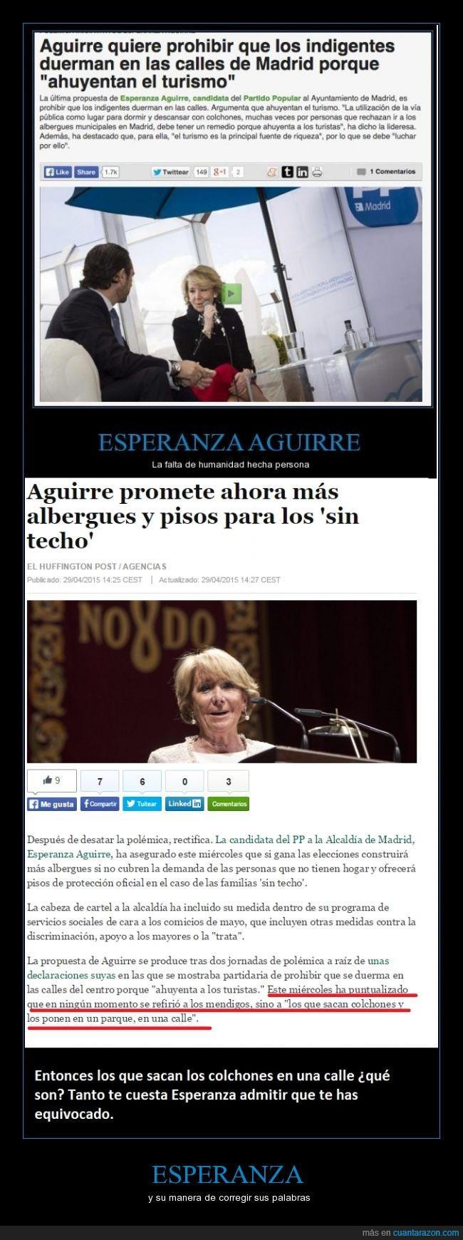 albergues,colchón,Esperanza Aguirre,madrid,PP,Sin techo