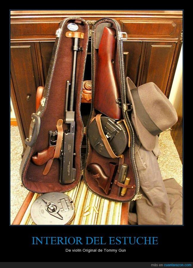 arma,estuche,funda,mafia,mafioso,metralleta,pistola,violín