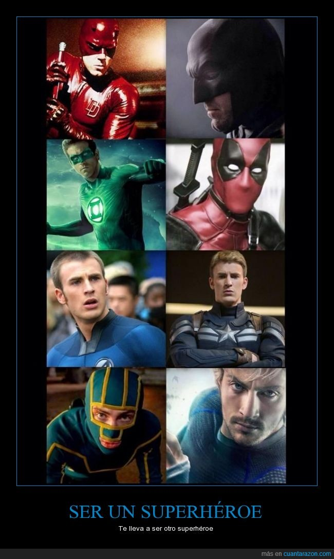 Aaron Taylor-Johnson,actor,Antorcha Humana,Batman,Ben Affleck,Capitán América,Chris Evans,Daredevil,Kickass,Ryan Reynolds